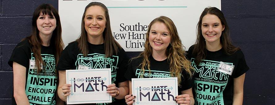 SNHU Students who attended the I Hate Math Conference